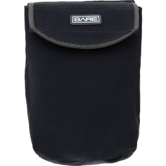Bare Poly Trilam Bellows with Flap Pkt - Black