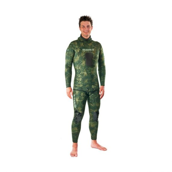 Mares Rash Guard Top w/ Chest Pad Green