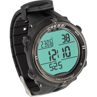 Cressi Drake Titanium Apnea Watch - Black/Black